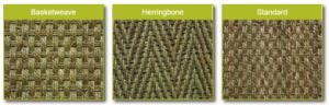 Seagrass carpet weaves